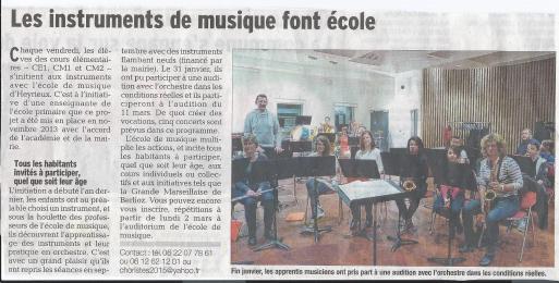 2015-03-01 article dauphiné orchestre a l ecole et harmonie